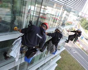 Umyvanie okennej fasady